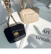Mini diamond chain belt bag