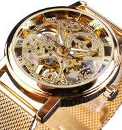 Hollow men's mechanical watch