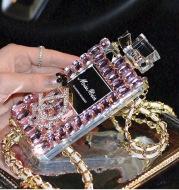 Perfume bottle bow phone case