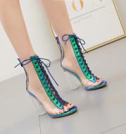 Transparent Boots High Heel Sandals