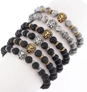 Natural stone fire stone Hand Beaded Bracelet aliexpress hot stretch bracelet bracelet explosion lady lion
