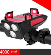 Multifunctional bicycle headlight