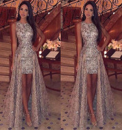 Sexy split dress European and American dress