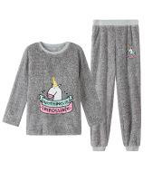Unicorn thickened pajamas set