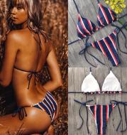 Sexy triangle striped bikini