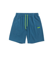 Neon drawstring stretch shorts
