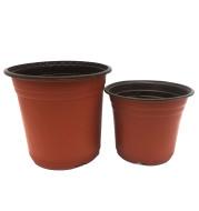 Plastic two-color nursery pots