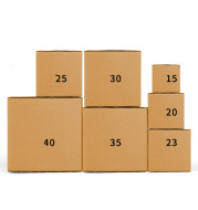 Moving and storing express packaged cardboard boxes