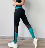 Colorblock fitness pants stretch