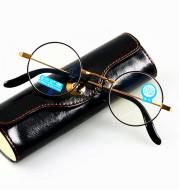 Blue light proof round frame presbyopic glasses