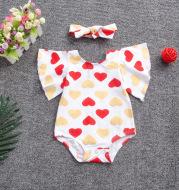 letter printing parent-child Girls dress