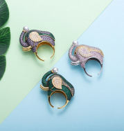 Elephant Plated Separated Ladies Ring
