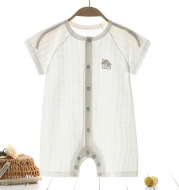 Baby''s one-piece clothes summer thin men''s Harbin clothes pure cotton women''s pajamas summer short sleeve newborn children''s summer clothes