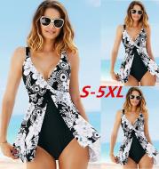 Plus-size one-piece swimsuit