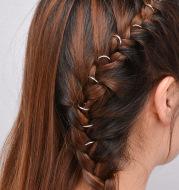 DIY hair braid DIY circle hair clip