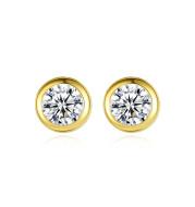 Wild earrings in 14K gold with zircon