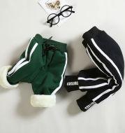 Baby winter clothing plus velvet pants
