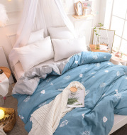 Cotton bed quilt cover