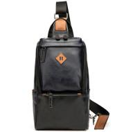 Cycling shoulder bag soft leather backpack