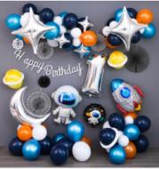 Black starry theme decoration birthday decoration balloons