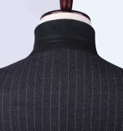 Vertical striped suit groom groomsmen