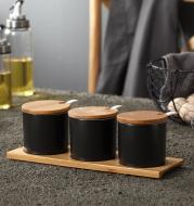 Kitchen ceramic seasoning jar