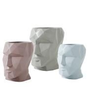 Creative face vase