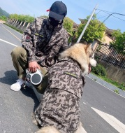 Pet custom outdoor camouflage clothing