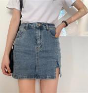 Korean version of the retro bag hip skirt