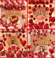 Romantic bedroom balloons