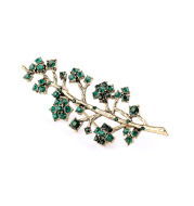 JHigh-quality brooch with branches and diamonds