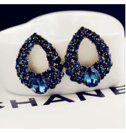 Water Drop Diamond Sapphire Fashion Stud Earrings