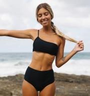 High waist split bikini