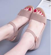 Summer women's word buckle wedge casual sandals