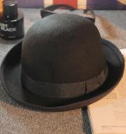 Felt dome curling fashion hat
