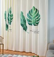 Banana leaf digital printing curtain