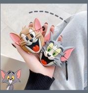 Cartoon tom cat mouse silicon earphone