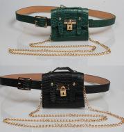 Metal chain belt small bag