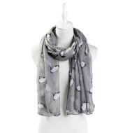 Little penguin print shawl