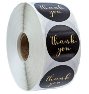 500pcs/roll Gold Foil Thank You Stickers