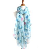Hedgehog pattern scarf