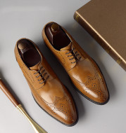 Brogues leather shoes