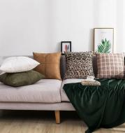 Retro solid color pillowcase