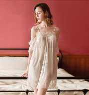 Lace nightdress suit
