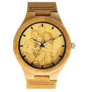 Bamboo and wooden watches with one to one pictures