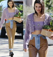 Two-piece knitted cardigan sweater