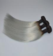 Silver gray real hair set