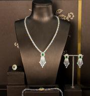 Four-piece zircon jewelry set