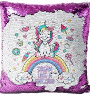 Sequined pillowcase Printed unicorn pillowcase