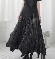 High waist thin A-line long skirt